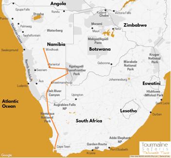 Voyage Namibie circuit découverte du Kalahari à Cape Town
