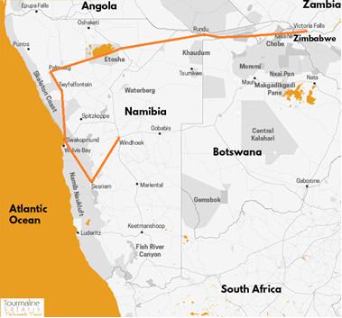 Safari camping 4x4 Afrique Australe circuit itinéraire des déserts namibiens aux chutes Victoria