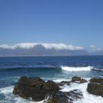 Nuage sur la montagne de la Table à Cape Town
