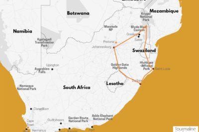 Voyage Afrique du Sud circuit randonnée dans le Drakensberg et Safaris au parc Kruger
