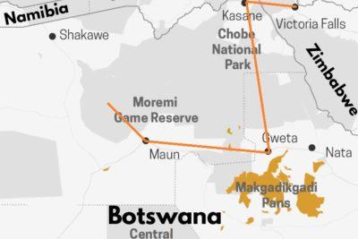 Safari au Botswana par les pans