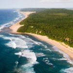 Vua aérienne de la plage du Thonga Beach